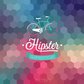 Hipster background. — Stock Vector