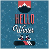 Hello winter. — Stock Vector