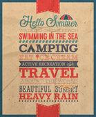 Summer poster. — Stock Vector