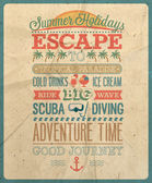 Summer holiday poster. — Vector de stock