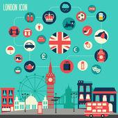 London icon set. — Stok Vektör