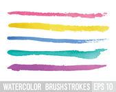 Watercolor brush stroke. Vector illustration. — Stock Vector