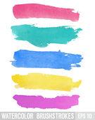 Watercolor brush stroke.  — Stock Vector