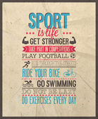 Sport is life. — Vector de stock