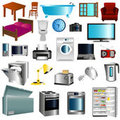 Furniture and appliances — Stock Vector