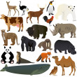 Vector de stock : Animals 1