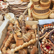 Foto de Stock  : Souvenirs carved from wood