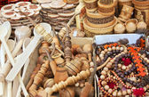 Souvenirs carved from wood — Stock Photo