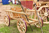 Antique wooden cart — Stock Photo
