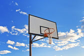 Basketball hoop in the street — Stockfoto