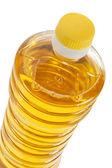 Bottle of sunflower oil closeup isolated — Stock Photo