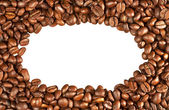 Coffee beans in the shape of a frame isolated — Stock Photo