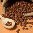Studio Shot of Coffee Beans in a Bag — 图库照片