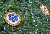 Christmas decorations on the Christmas tree — Stock Photo