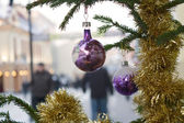 Holiday decorations in the street — Foto de Stock