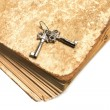 Stock Photo: Old book with the keys