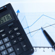 Financial charts and graphs on the table — Stock Photo #19288957