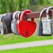 Red heart-shaped padlock — Stock Photo #19493477