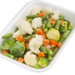 Stock Photo: Fresh vegetables in plastic container
