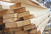 A pile of wooden planks — Stock Photo