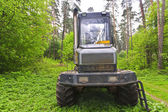 Large skidder in the woods — Stock Photo