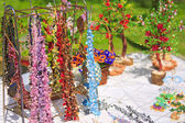 Beads and other souvenirs handmade beaded — Stock Photo