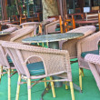 tables de café en plein air — Photo