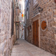 Stock Photo: Narrow medieval street in Budva
