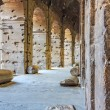 Corridors inside the Coliseum — Stock Photo