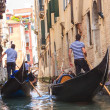 Stock Photo: Gondolas floating on canal in Venice