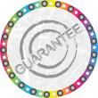 Guarantee stamp — Stock Vector