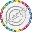 Stock Vector: Rejected stamp
