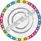 Cancelled stamp — Stock Vector