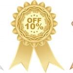 Ten percent discount — Stock Vector