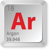 Argon button — Stock Vector