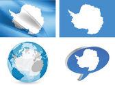 Antartica flag — Stock Vector