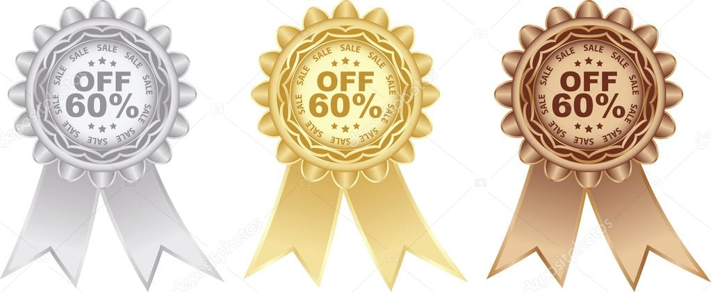 Sixty percent discount  Stock Vector #14681869
