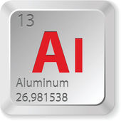 Aluminum button — Stock Vector