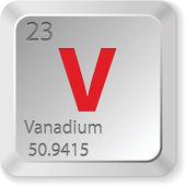 Elemento de vanadio — Vector de stock