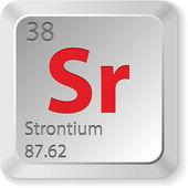 Strontium element — Stock Vector