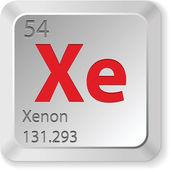 Xenon element — Stock Vector