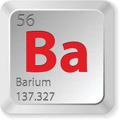 Elemento bário — Vetor de Stock