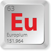 Europium chimic element — Stockvektor