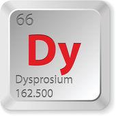 Disprozyum chimic öğe — Stok Vektör