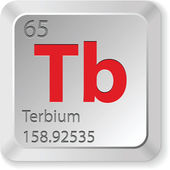 Terbium chimic element — Stockvektor