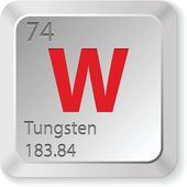 Tungsten element — Stock Vector