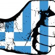Greece fist — Stock Vector