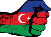 Azerbaijan fist — Stock Vector
