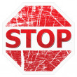 Stock Vector: Stop sign