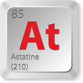 Astatine element — Stock Vector